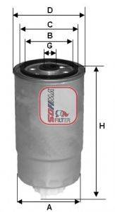 SOFIMA (НОМЕР: S 1528 NR) Топливный фильтр