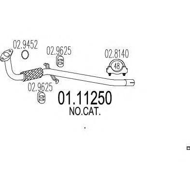 Труба выхлопного газа MTS 01.11250