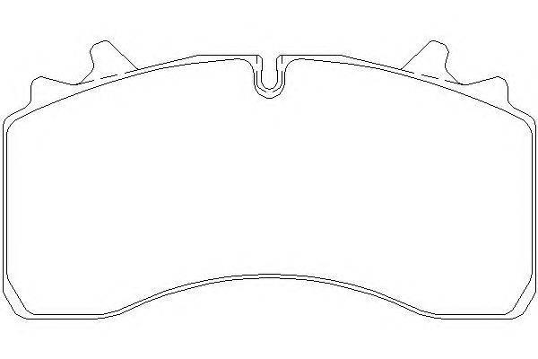 Комплект тормозных колодок, дисковый тормоз DON CVP096K