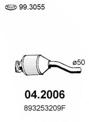 Предглушитель выхлопных газов ASSO 04.2006