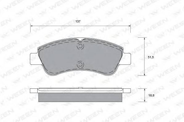 Комплект тормозных колодок, дисковый тормоз WEEN 151-1323