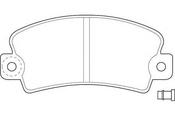 Комплект тормозных колодок, дисковый тормоз WAGNER WBP20140A