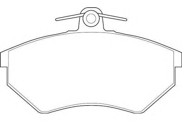 Комплект тормозных колодок, дисковый тормоз WAGNER WBP20168A