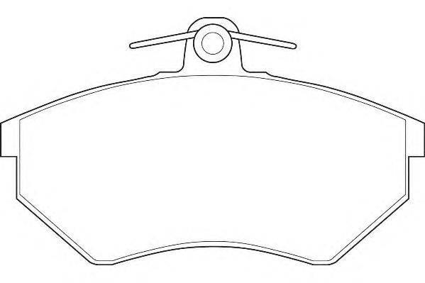 Комплект тормозных колодок, дисковый тормоз WAGNER WBP20168B