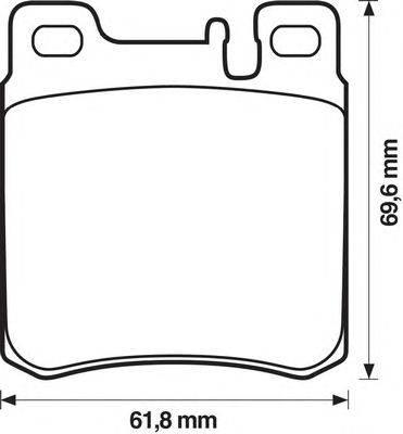 Комплект тормозных колодок, дисковый тормоз BENDIX 571722B