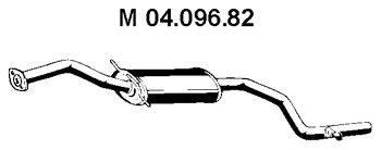 Средний глушитель выхлопных газов EBERSPÄCHER 04.096.82