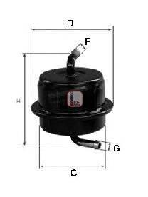 SOFIMA (НОМЕР: S 1565 B) Топливный фильтр