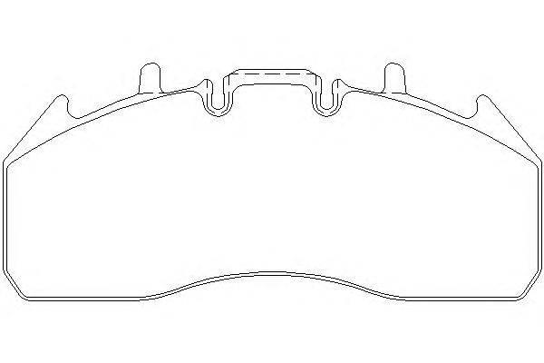 Комплект тормозных колодок, дисковый тормоз DON CVP101K