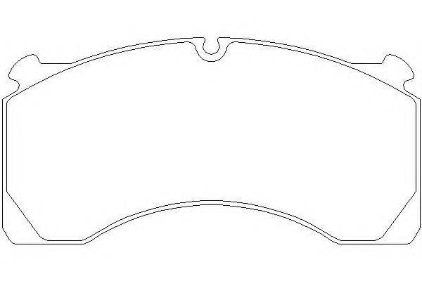 Комплект тормозных колодок, дисковый тормоз DON CVP024K