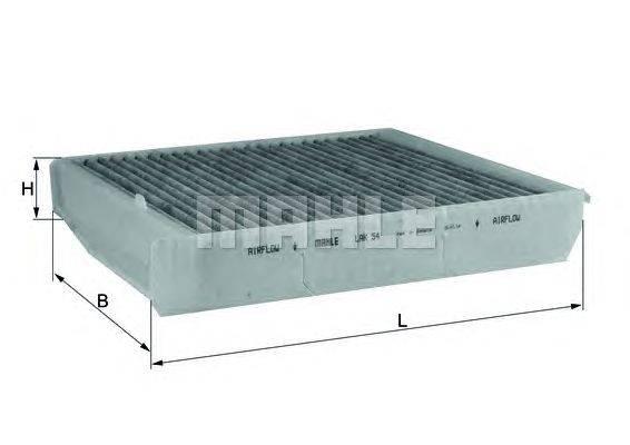 Фильтр, воздух во внутренном пространстве MAHLE ORIGINAL LAK54
