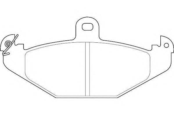 Комплект тормозных колодок, дисковый тормоз WAGNER WBP20410A