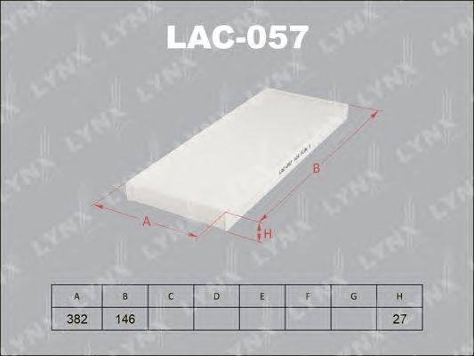 Фильтр, воздух во внутренном пространстве LYNXauto LAC057