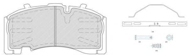 FERODO (НОМЕР: FCV1825B) Комплект тормозных колодок, дисковый тормоз