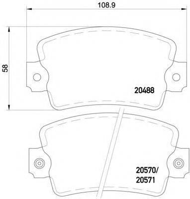 Комплект тормозных колодок, дисковый тормоз MINTEX MDB1143