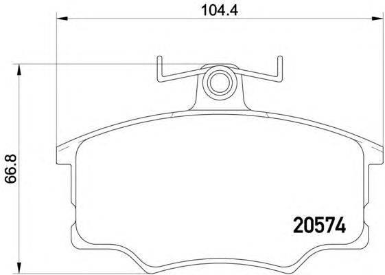 Комплект тормозных колодок, дисковый тормоз MINTEX MDB1150