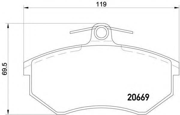 Комплект тормозных колодок, дисковый тормоз MINTEX MDB1253