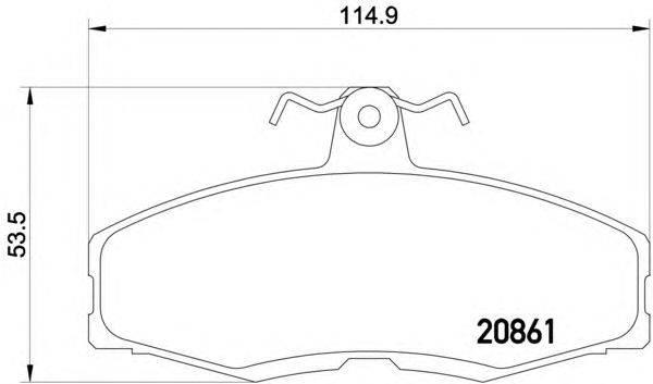 Комплект тормозных колодок, дисковый тормоз MINTEX MDB1212