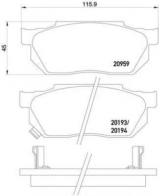 Комплект тормозных колодок, дисковый тормоз MINTEX MDB1243