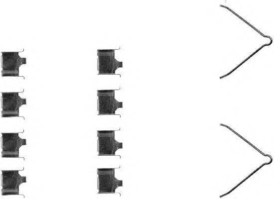 Комплектующие, колодки дискового тормоза MINTEX MBA1166