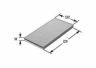 Фильтр, воздух во внутренном пространстве CLEAN FILTERS NC2304CA