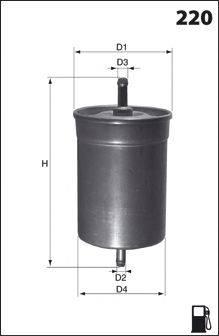 Топливный фильтр MECAFILTER ELE3567