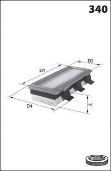 Воздушный фильтр MECAFILTER ELP3726