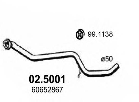 Труба выхлопного газа ASSO 02.5001