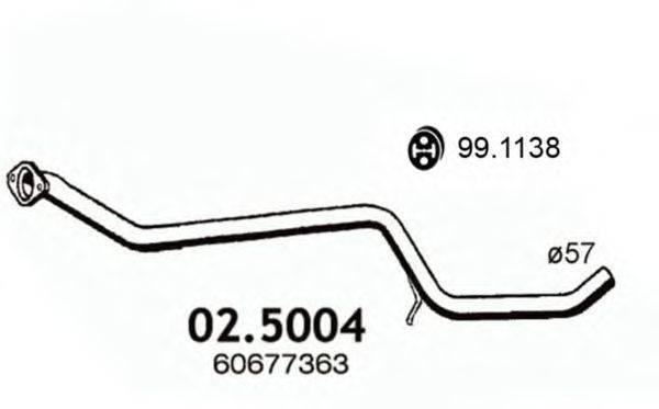 Труба выхлопного газа ASSO 02.5004