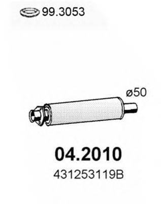 Предглушитель выхлопных газов ASSO 04.2010
