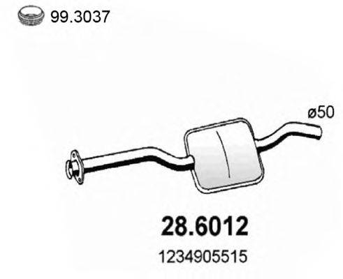 Средний глушитель выхлопных газов ASSO 28.6012