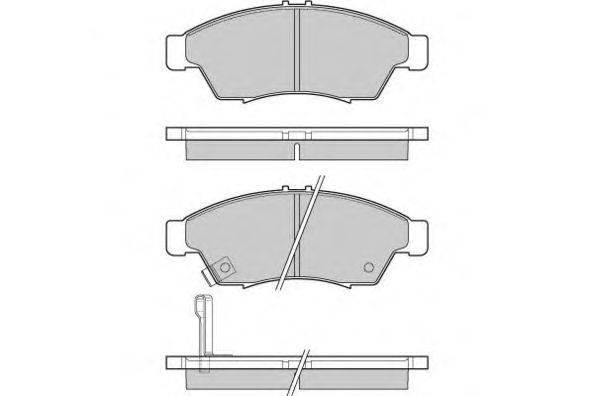 Комплект тормозных колодок, дисковый тормоз E.T.F. 12-1017