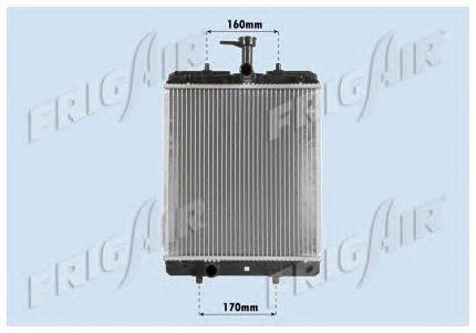 Радиатор, охлаждение двигателя FRIGAIR 0103.3068