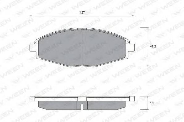 Комплект тормозных колодок, дисковый тормоз WEEN 151-1106