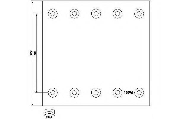 Комплект тормозных башмаков, барабанные тормоза TEXTAR 1909437
