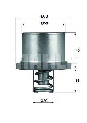Термостат, охлаждающая жидкость BEHR THD 2 89