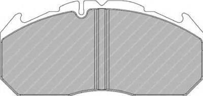 FERODO (НОМЕР: FCV1762BFE) Комплект тормозных колодок, дисковый тормоз
