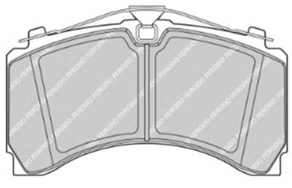 FERODO (НОМЕР: FCV4418PTS) Комплект тормозных колодок, дисковый тормоз