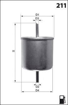 MECAFILTER (НОМЕР: E07) Топливный фильтр