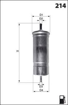 Топливный фильтр MECAFILTER ELE6000