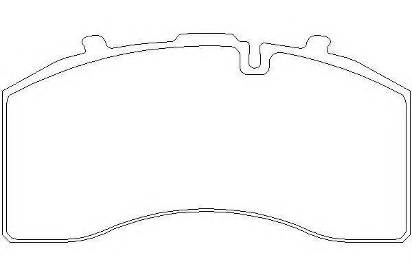 Комплект тормозных колодок, дисковый тормоз DON CVP103K