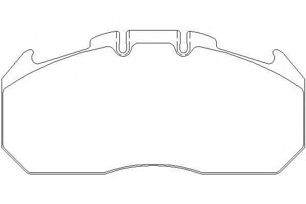 Комплект тормозных колодок, дисковый тормоз DON CVP088K