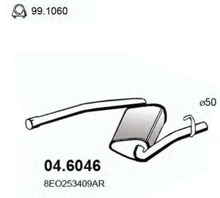 Средний глушитель выхлопных газов ASSO 04.6046