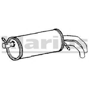 Глушитель выхлопных газов конечный KLARIUS 210786