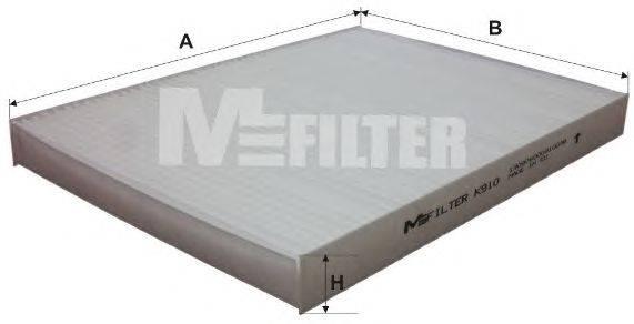 Фильтр, воздух во внутренном пространстве MFILTER K910