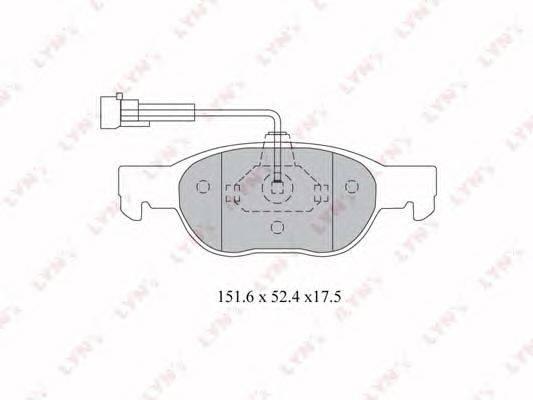 LYNXauto (НОМЕР: BD-2801) Комплект тормозных колодок, дисковый тормоз