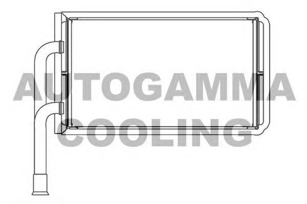 Теплообменник, отопление салона AUTOGAMMA 103431