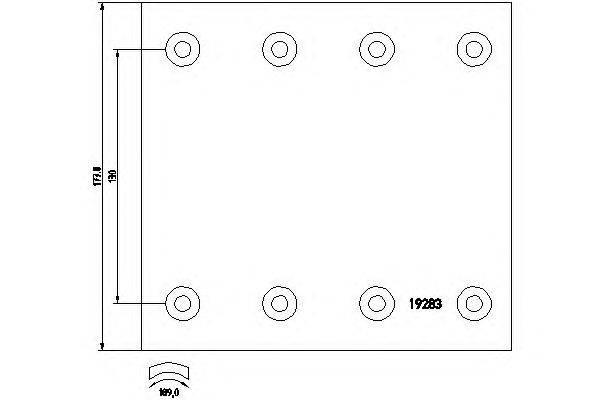 Комплект тормозных башмаков, барабанные тормоза TEXTAR 1928308