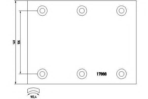 Комплект тормозных башмаков, барабанные тормоза TEXTAR 1788802