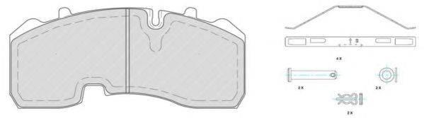 FERODO (НОМЕР: FCV1678B) Комплект тормозных колодок, дисковый тормоз