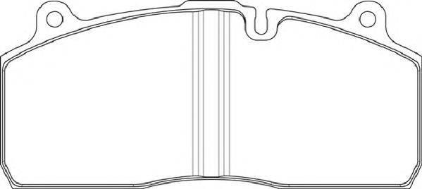 FERODO (НОМЕР: FCV1814BFE) Комплект тормозных колодок, дисковый тормоз